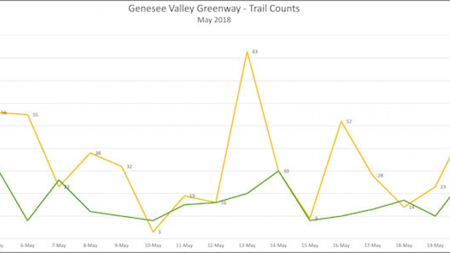 Figure 1 Total Daily Trail Counts