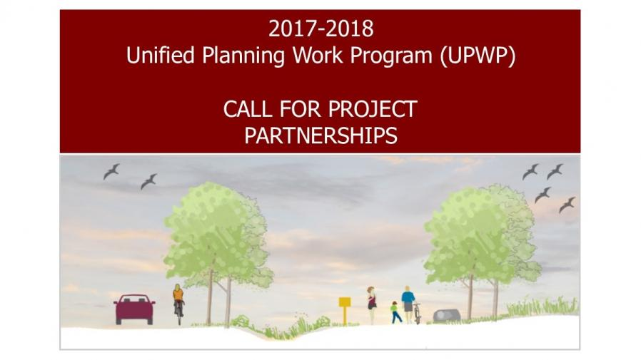 2017-2018 UPWP Call for Project Partnerships